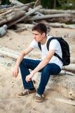 Jeune homme songeur Images libres de droits
