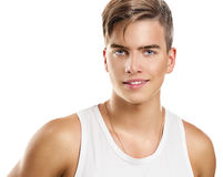 Jeune homme sportif beau Image stock