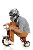 Jeune homme sur le tricycle Photos libres de droits