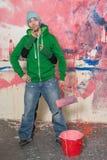 Jeune homme thiking Photo libre de droits