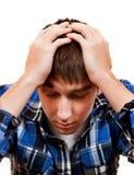 Jeune homme triste image libre de droits