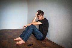 Jeune homme triste Images libres de droits