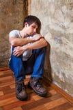 Jeune homme triste Photos stock