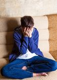 Jeune homme triste Image stock