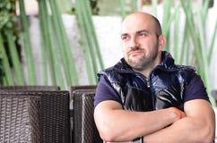 Jeune homme triste barbu Photos libres de droits