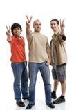 Jeune homme trois photos libres de droits