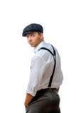 Jeune homme utilisant un capuchon Images libres de droits