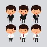 Jeune illustration élégante de vecteur d'homme d'affaires Photos stock