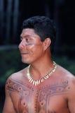 Jeune Indien indigène du Brésil Photographie stock libre de droits