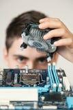 Jeune ingénieur informaticien Photo stock