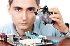 Jeune ingénieur informaticien Photographie stock libre de droits
