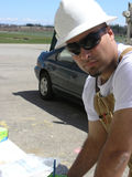 Jeune inspecteur de maintenance. Photo stock