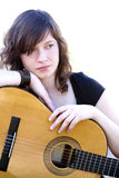 Jeune interprète de guitare Photos libres de droits