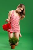 Jeune jardinier féminin images stock