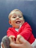 Jeune jeu de petite fille Photographie stock