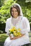 Jeune jeune mariée d'été Photo libre de droits