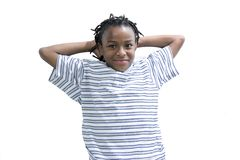 Jeune jeunesse mâle noire Photo stock