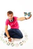 Jeune jockey de disque Photo stock
