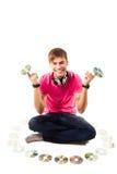 Jeune jockey de disque Image libre de droits