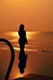 Jeune joli bord de la mer Image stock