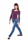 Jeune joli femme dans la pose Relaxed Photographie stock libre de droits