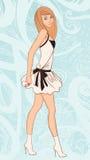 Jeune jolie fille de mode illustration libre de droits