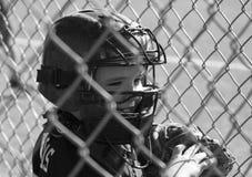 Jeune joueur de baseball masculin image stock