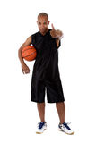 Jeune joueur de basket d'Afro-américain Photo stock