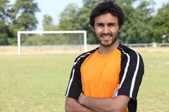 Jeune joueur de football Images stock