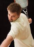 Jeune joueur de tennis photo stock