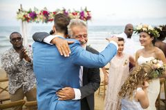 Jeune jour du mariage caucasien du ` s de couples images libres de droits