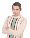 Jeune mâle beau dans le chandail d'isolement image libre de droits