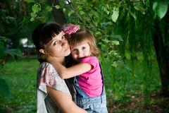Jeune mère avec l'enfant Photographie stock libre de droits