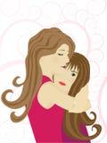 Jeune mère avec son descendant Photos stock