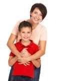 Jeune mère heureuse avec le fils Image libre de droits
