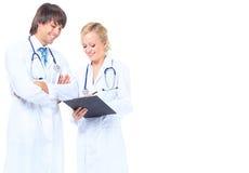 Jeune médecin de famille attirant Photo libre de droits