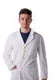 Jeune médecin, infirmière ou travailleur de sexe masculin belle de pharmacie Photos stock
