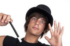 Jeune magicien de l'adolescence Images stock