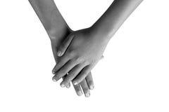Jeune main sur le fond blanc Image libre de droits