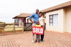 jeune maison familiale africaine Image libre de droits