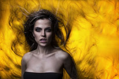 Jeune mannequin brésilien Photographie stock