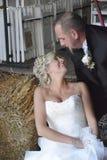 Jeune mariée affectueuse Images libres de droits