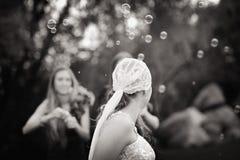 Jeune mariée artistique Photos libres de droits