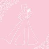 Jeune mariée avec le bouquet Images stock