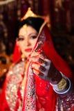 Jeune mariée bangladaise Images stock