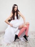 Jeune mariée d'emballement Photo stock