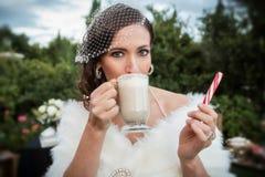 Jeune mariée d'hiver Photos stock