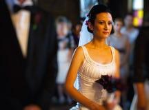 Jeune mariée dans l'église Photographie stock libre de droits