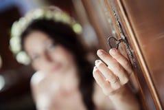 Jeune mariée de campagne Photo stock