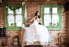 Jeune mariée de campagne Images libres de droits